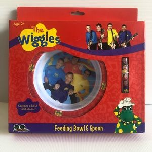 NIB The Wiggles Feeding Bowl & Spoon age 2+ Original Wiggles